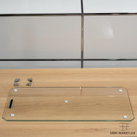 Glaselement 750x350 mit Befestigungsmaterial