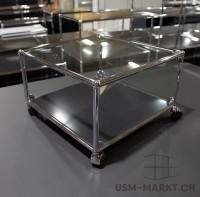 USM 50x50 Glastischli schwarz