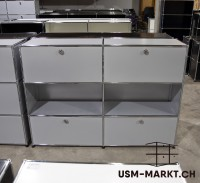USM Regal 2x3 Mattsilber