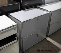 USM Regal 1x2 Mattsilber