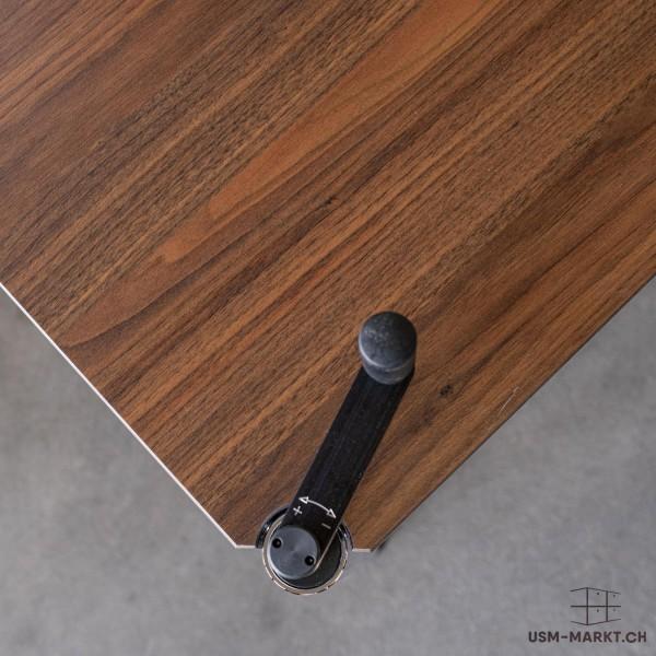USM Haller Tisch Nussbaumdekor höhenverstellbar 175x75