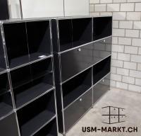 USM Haller Regal 2x4 Schwarz