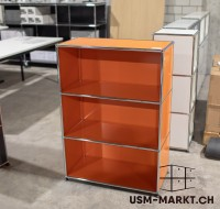 USM Haller Regal 1x3 Orange