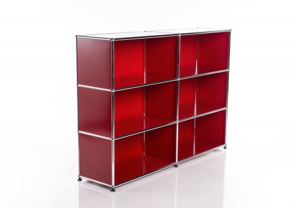 USM Haller Regal 2x3 Rot