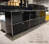 USM Sideboard 3x2 35 schwarz 3hr3kl