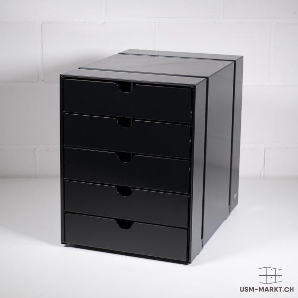 Neue USM Haller Inos Box Kastenset C4 - 5 Schubladen geschlossen