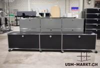 USM TV-Möbel 3x1 Schwarz spez