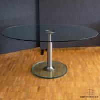 Ovaler Salontisch Glas