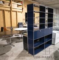 USM Haller Regal 2x7 spez Stahlblau 2kl