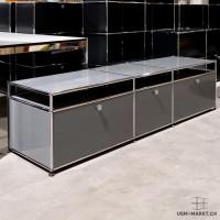 USM Haller Sideboard 3x1 50 Mittelgrau 3kl
