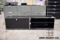 USM TV-Möbel 2x1 Schwarz 1azzt