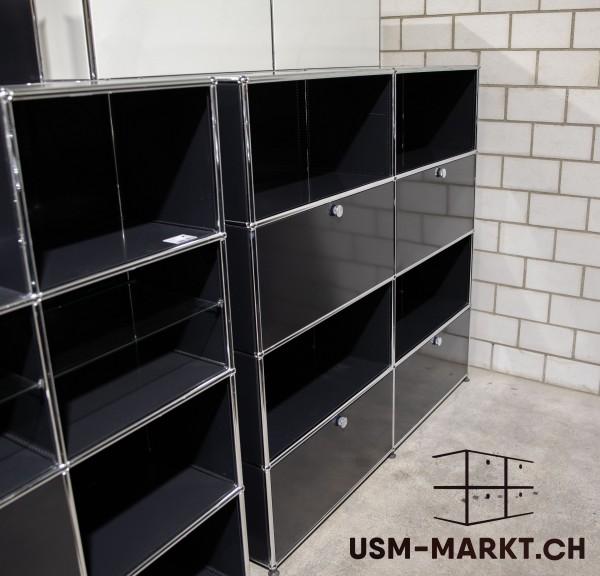 USM Haller Regal 2x4 35 Schwarz 2hr2kl ag
