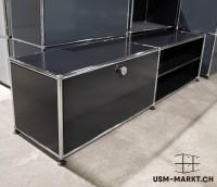 USM TV-Möbel 2x1 Schwarz