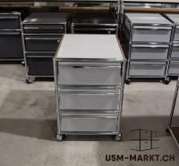 USM Haller Rollkorpus 3A6 Mattsilber