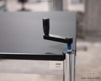 USM Haller Tisch Fenix höhenverstellbar 150x75