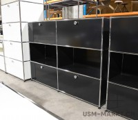 USM Haller Regal 2x3 35 schwarz 2hr2kl