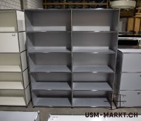 USM Regal 2x5 Mattsilber