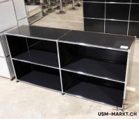 USM Haller Regal 2x2 Schwarz