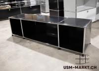 USM TV-Möbel 3x1 Schwarz