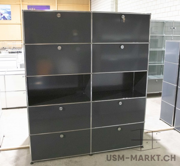 USM Regal 2x5 35 8kl Anthrazit