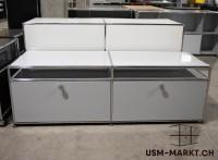 USM TV-Möbel 2x1 Lichtgrau