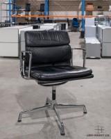 Vitra EA 208 Soft Pad Leder schwarz gebraucht