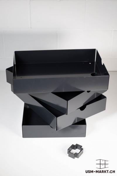 USM Inos Set schwarz, für Ausziehtablar 750x500