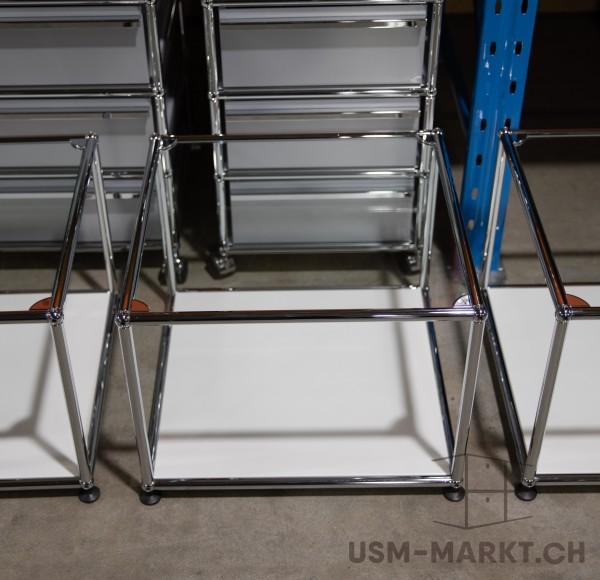 USM 50x50 Glastischli Weiss